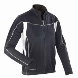 Spiro maillot manches longues femme veste cycliste s255f noir xs