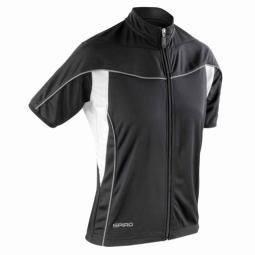 Spiro maillot velo cycliste femme s188f noir full zip s