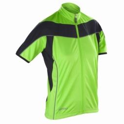 Spiro maillot velo cycliste femme s188f vert citron full zip xs