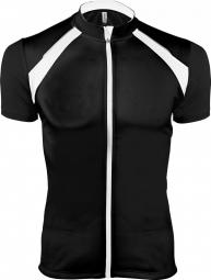Proact maillot cycliste zippe homme pa447 noir manches courtes xs