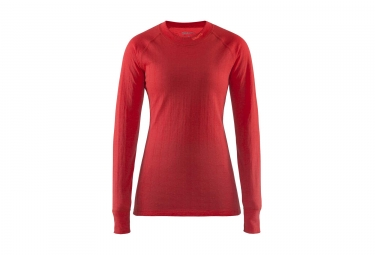 maillot femme craft nordic wool rouge s