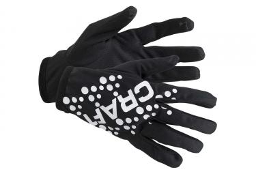 Gants craft jersey noir m