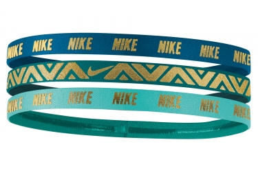 mini bandeau nike metallic 3 pieces bleu