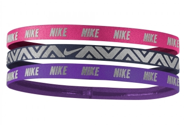 mini bandeau nike metallic 3 pieces rose violet