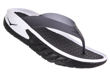 Hoka Ora Recovery Flip Recovery Shoes Black White