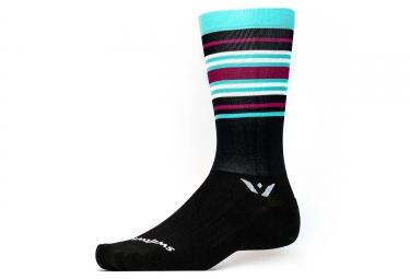 chaussettes swiftwick aspire seven noir bleu violet 39 42