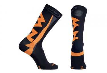 chaussettes northwave extreme winter noir orange l
