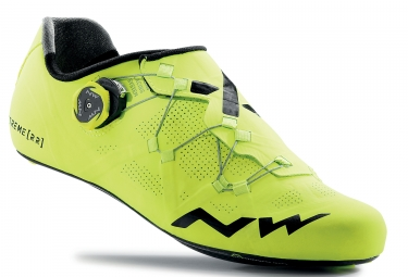 chaussures route northwave extreme rr jaune fluo 41