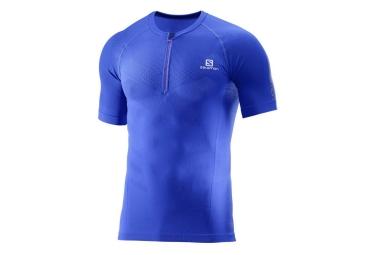 maillot manches courtes salomon exo motion bleu xl