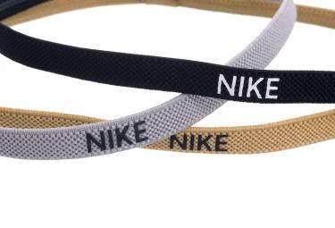 Mini Bandeaux Nike 3PK Blanc Noir