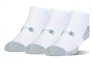 3 Paires de Chaussettes Under Armour Heatgear Tech Blanc