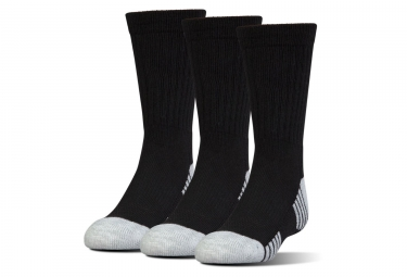 3 paires de chaussettes under armour heatgear tech high noir 38 42
