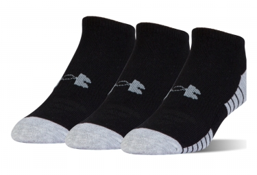 Under Armour Heatgear Tech 3 pairs of Socks Noshow Black