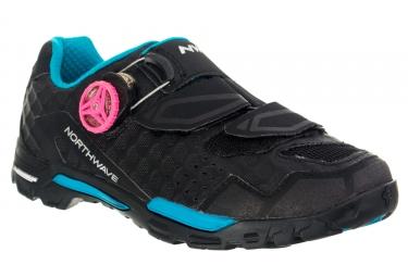 chaussures vtt femme northwave outcross plus noir vert 41