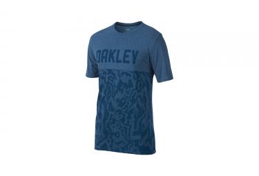 t shirt oakley o trng topo bleu l