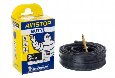 Chambre a air vtt michelin c2 airstop 26 presta 40mm 1 00 1 50