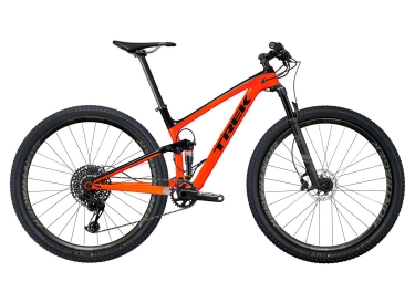 vtt tout suspendu trek 2018 top fuel 9 8 sl 29 project one sram gx eagle 12v orange noir 18 5 pouces 170 179 cm