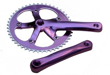 pedalier blb track 48 dents axe carre violet 165