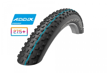Pneu schwalbe rocket ron 27 5 tubeless ready souple snakeskin addix speedgrip 3 00