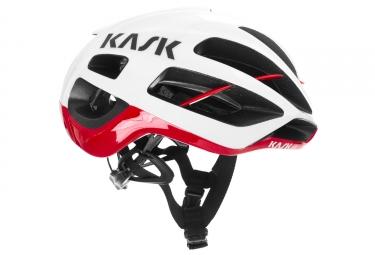 Casque KASK PROTONE Blanc Rouge