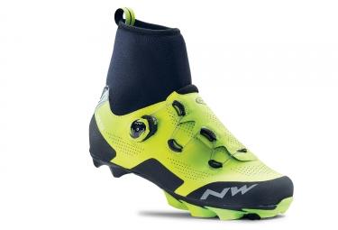 chaussures northwave raptor gtx jaune fluo noir 45