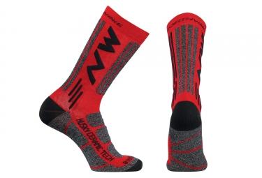 chaussettes northwave husky rouge noir m