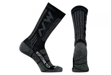 chaussettes northwave husky noir gris l