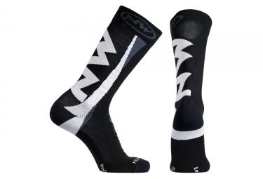 chaussettes northwave extreme winter noir blanc s