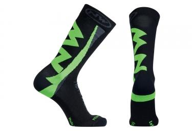 chaussettes northwave extreme winter noir vert s
