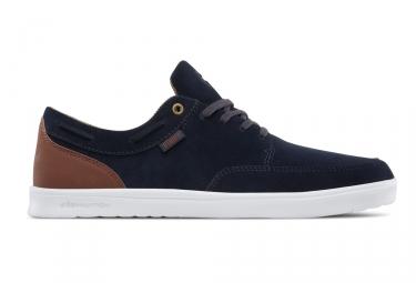 paire de chaussures etnies dory sc bleu marine marron blanc 44