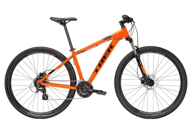 vtt semi rigide trek 2018 marlin 6 27 5 shimano altus 8v orange noir 15 5 pouces 153 162 cm
