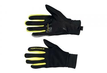 gants hiver northwave power 2 grip noir jaune fluo xl