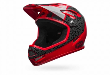 Casque integral bell sanction rouge gris m 55 59 cm
