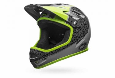casque integral bell sanction gris jaune m 55 59 cm