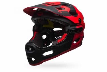 casque bell super 3r mips noir rouge l 58 62 cm