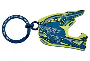 porte clefs troy lee designs d3 helmet bleu vert