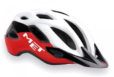 casque met crossover blanc rouge noir m 52 59 cm