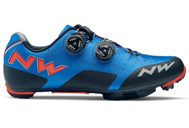 Chaussures vtt northwave rebel bleu orange 2018 41