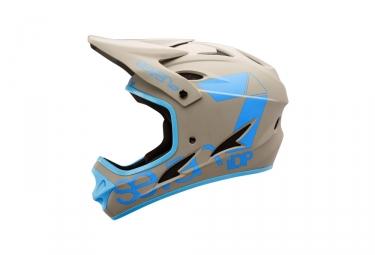 casque integral seven m1 gris bleu xs 53 54 cm