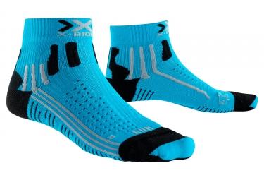 Image of Chaussettes x bionic effektor running bleu noir 35 36