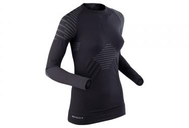 maillot manches longues femme x bionic invent noir gris s
