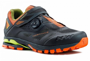 chaussures vtt northwave spider plus 2 anthracite noir orange 44