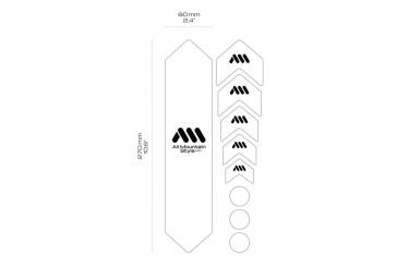 Kit Protection de Cadre ALL MOUNTAIN STYLE Honey Comb 9 pcs - Noir