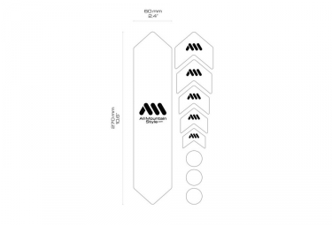 Kit Protection de Cadre ALL MOUNTAIN STYLE Honey Comb 9 pcs - Zebra