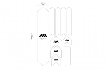 Kit Protection de Cadre ALL MOUNTAIN STYLE Honey Comb XL 10 pcs - Transparent