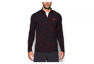 maillot manches longues under armour threadborne rouge noir m