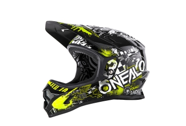 Casque integral enfant oneal backflip rl2 evo attack noir jaune m 48 50 cm