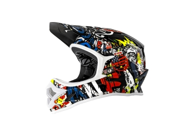 casque integral oneal backflip rl2 rancid noir jaune l 59 60 cm
