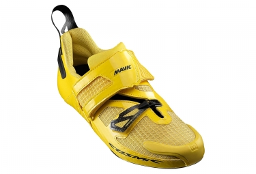 Chaussures triathlon mavic cosmic ultimate tri jaune 46 2 3