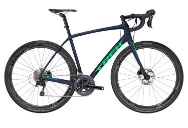 velo route trek 2017 domane sl 5 disc shimano 105 11v bleu vert 56 cm 173 181 cm